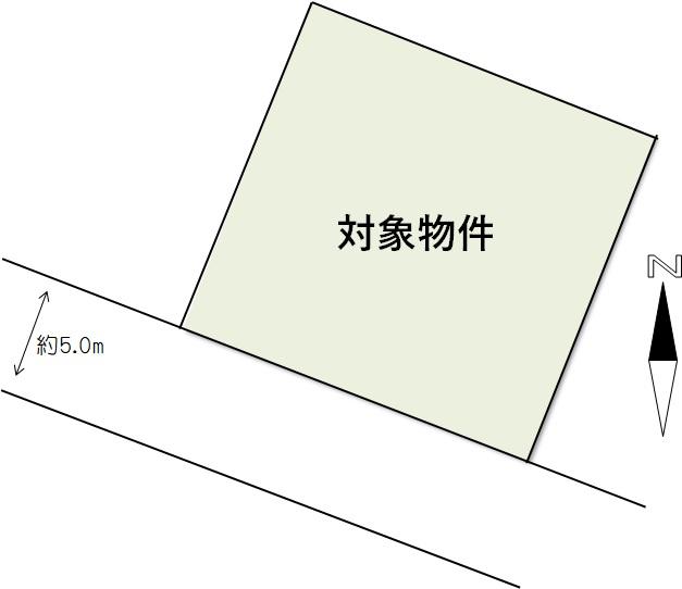 長船町福岡団地内にて南道路売り土地登場!